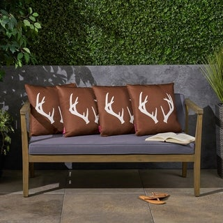 """Antler Outdoor 17.75"""" Square Cushion (Set of 4) by Christopher Knight Home"""