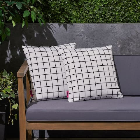 "Chadna Outdoor 17.75"" Square Cushion (Set of 2by Christopher Knight Home"