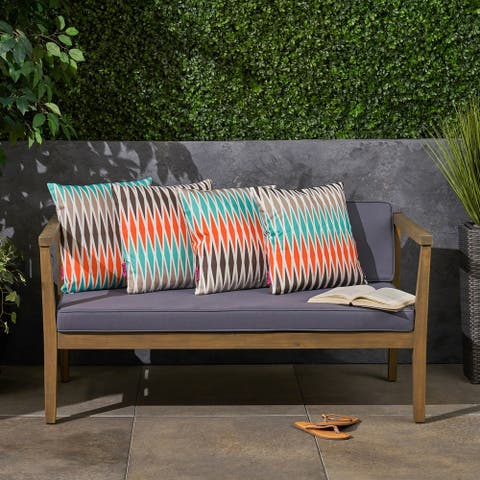 """Adobe Outdoor 17.75"""" Square Cushion (Set of 4by Christopher Knight Home"""