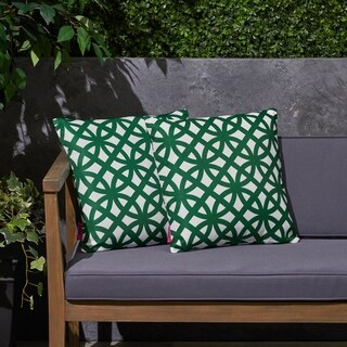 "Mod Gate Outdoor 17.75"" Square Cushion (Set of 2by Christopher Knight Home"