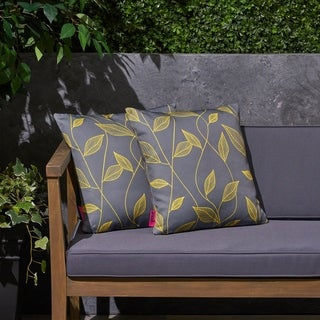 "Magari Outdoor 17.75"" Square Cushion (Set of 2by Christopher Knight Home"