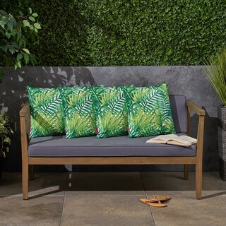 "Palms Outdoor 17.75"" Square Cushion (Set of ) by Christopher Knight Home"