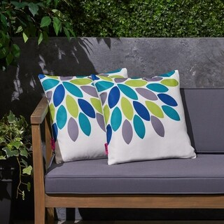 "Soley Outdoor 17.75"" Square Cushion (Set of 2by Christopher Knight Home"
