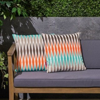 "Adobe Outdoor 17.75"" Square Cushion (Set of 2) by Christopher Knight Home"