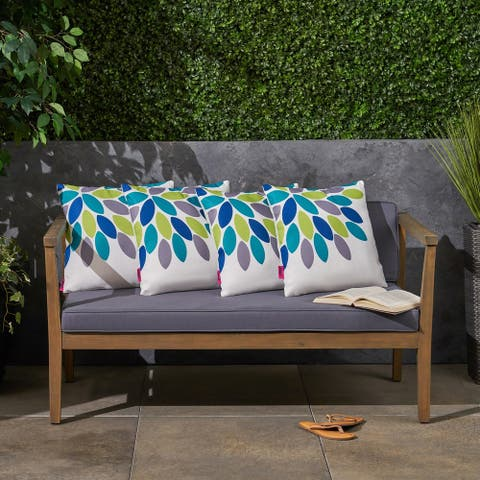 """Soley Outdoor 17.75"""" Square Cushion (Set of 4by Christopher Knight Home"""