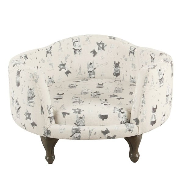 HomePop Pet Bed - Stain Resistant French Bulldog Print. Opens flyout.