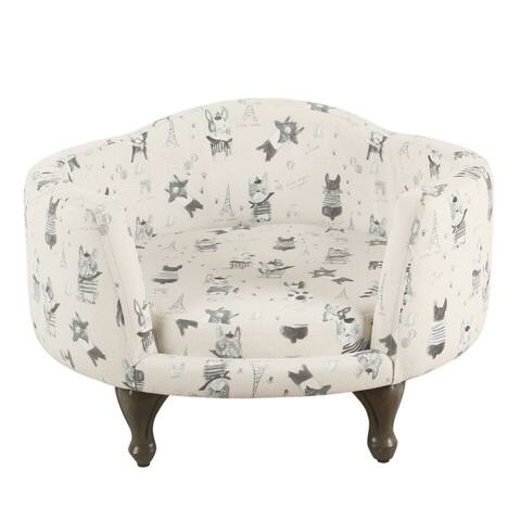 HomePop Pet Bed - Stain Resistant French Bulldog Print