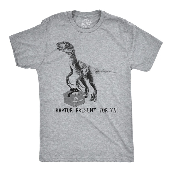 96a01a20d Shop Womens Raptor Present For Ya Tshirt Funny Christmas Dinosaur Tee - On  Sale - Free Shipping On Orders Over $45 - Overstock - 23580968