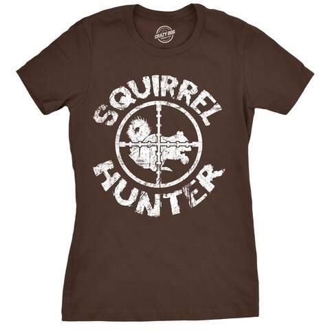 Womens Squirrel Hunter Tshirt Funny Hunting Outdoors Tee