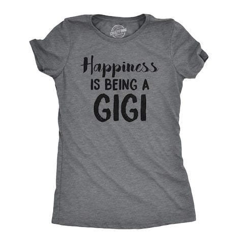 Womens Happiness Is Being A Gigi Tshirt Cute Family Grandparent Tee