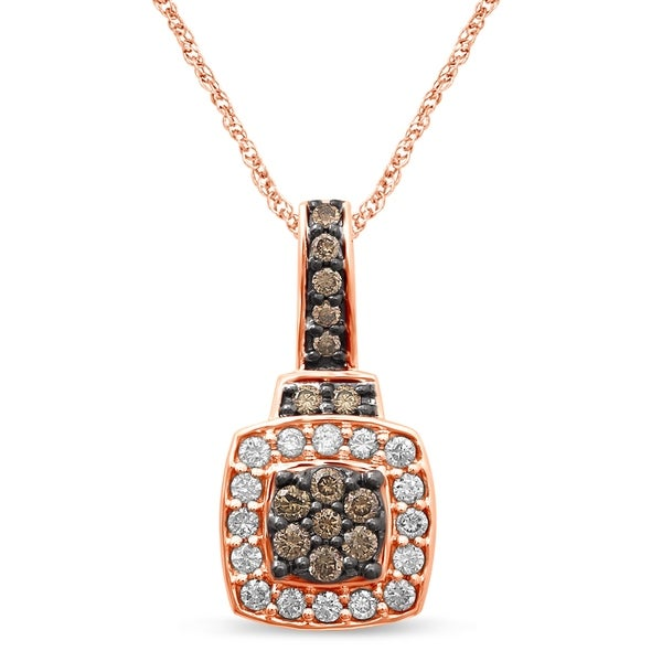 Shop Unending Love 10K Rose Gold 3/8 Cttw White And
