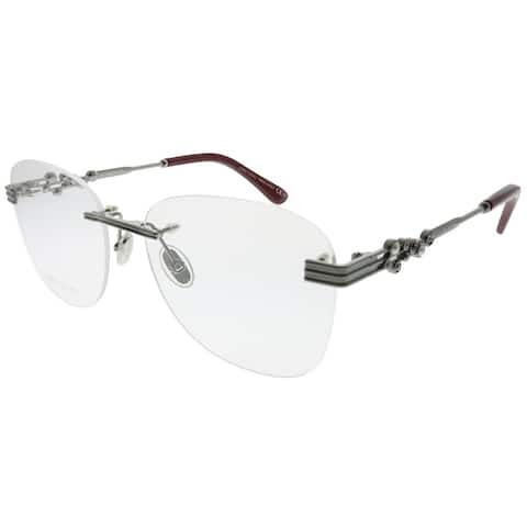 Jimmy Choo Rimless JC 214 GHP Women Ruthenium Red Frame Eyeglasses
