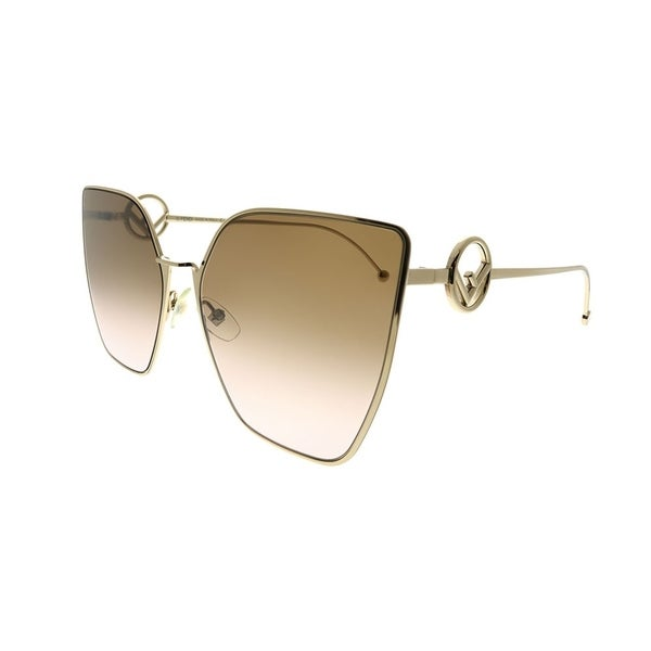 b4f3804f54e Shop Fendi Cat-Eye FF 0323 S F Is Fendi S45 M2 Women Pink Gold Frame ...