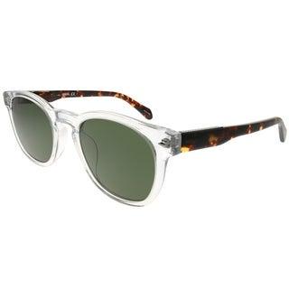 Fossil Square 2077/S 900 QT Unisex Crystal Frame Green Lens Sunglasses