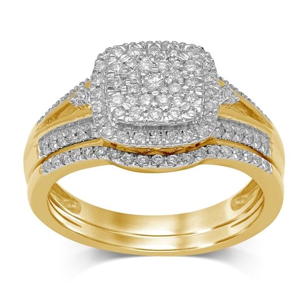 Shop Unending Love 10K Yellow Gold 1/2 Cttw Diamond Square