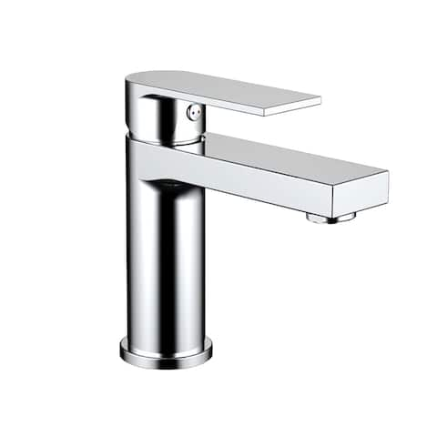 Eviva Pure Single Handle Bathroom Sink Faucet in Brushed Nickel