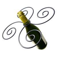 Epicureanist Swirl Wine Bottle and 4 Glass Holder