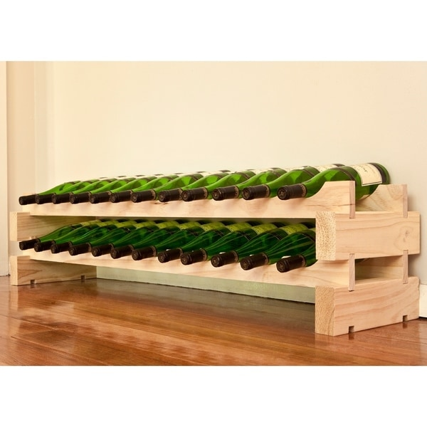 2 x 6 Natural Bottle Modular Wine Rack