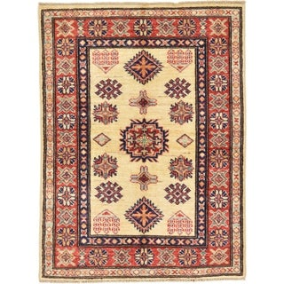 Hand Knotted Kazak Wool Area Rug - 2' 7 x 3' 5