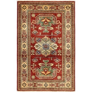 Hand Knotted Kazak Wool Area Rug - 2' 9 x 4' 4