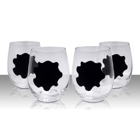 Stemless Chalkboard Wine Glasses - n/a