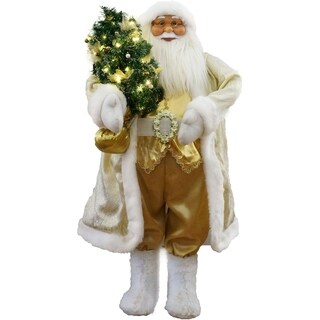 """Fraser Hill Farm 36"""" Music and Motion Santa with Christmas Tree"""