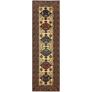 Hand Knotted Kazak Wool Runner Rug - 2' 7 x 8' 10