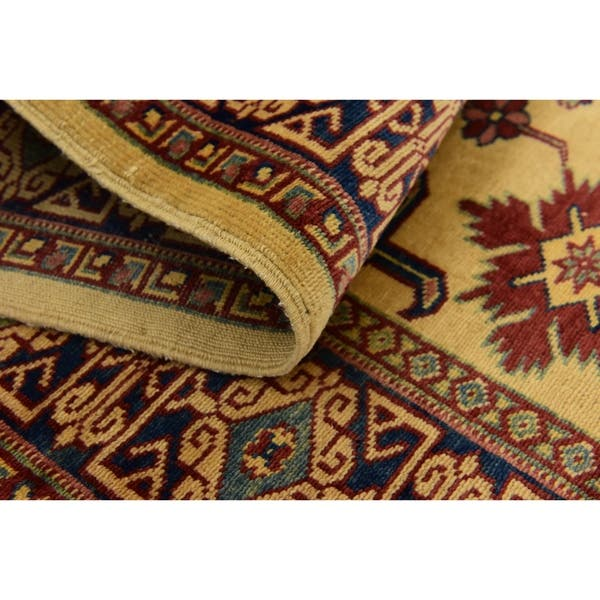 Hand Knotted Kazak Wool Runner Rug