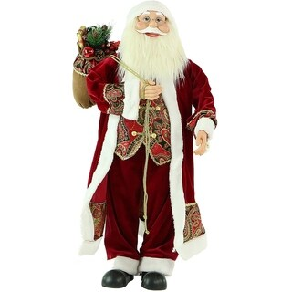 """Fraser Hill Farm 36"""" Music and Motion Santa with Paisley Vest"""
