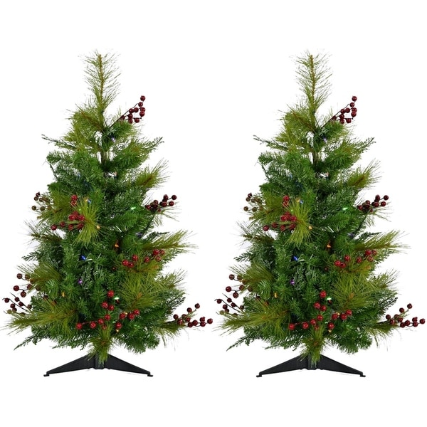 Fraser Hill Farm 2 Newberry Pine Artificial Tree With Multi Led Lights