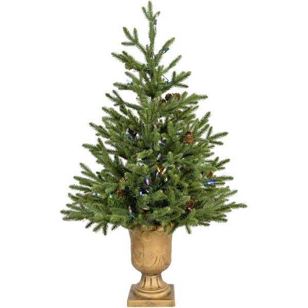 Fraser Hill Farm 3 Noble Fir Artificial Potted Tree With Multi Led Lights