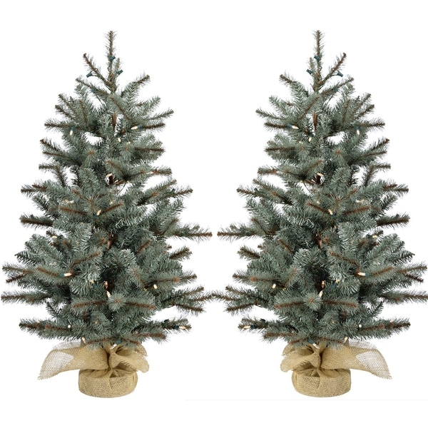 Fraser Hill Farm 3 Heritage Pine Artificial Tree With Clear Led Lights