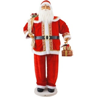 """Fraser Hill Farm 58"""" Dancing Santa with Gifts in Hand"""