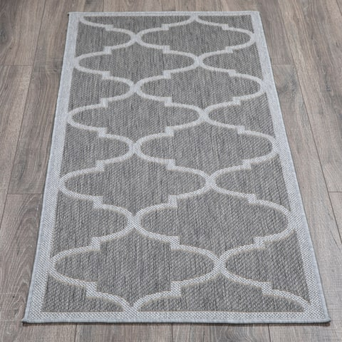 Jardin Powerloomed Low-Pile Indoor/Outdoor Runner Rug