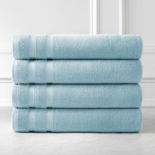 Premium Quality 100 Percent Combed Cotton, 4-Piece Bath Towel Set