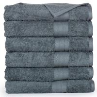 Economic Collection Plush Cotton Bath Towel (6 Pack)