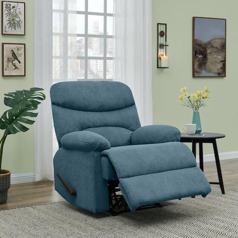 Copper Grove Herentals Medium Blue Chenille Wall Hugger Recliner Chair