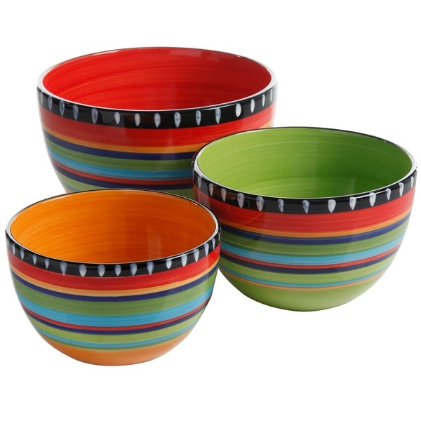 Gibson Pueblo Springs 3 piece Bowl Set
