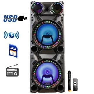 beFree Portable 12inch double subwoofer speaker system - N/A