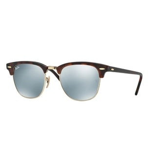 Ray-Ban Clubmaster RB3016 Men Tortoise/Grey Mirror Sunglasses