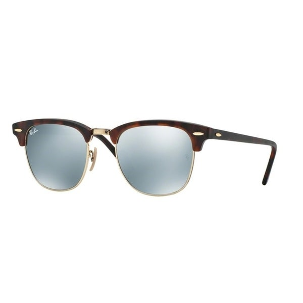 715064843e6 Shop Ray-Ban Clubmaster RB3016 Men Tortoise Grey Mirror Sunglasses - Free  Shipping Today - Overstock - 23585959