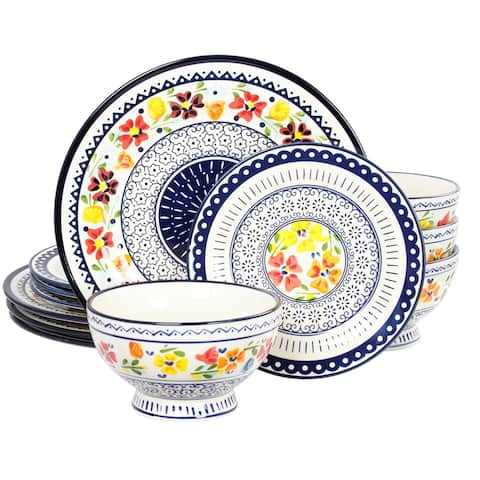 Gibson Elite Luxembourg 12 Piece Dinnerware Set