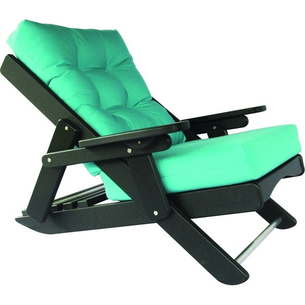 Poly Lumber Caribbean Sling Reclining Folding Chair W/ Deep Seat