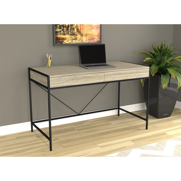 Taupe and Black Home Office Computer Desk. Opens flyout.