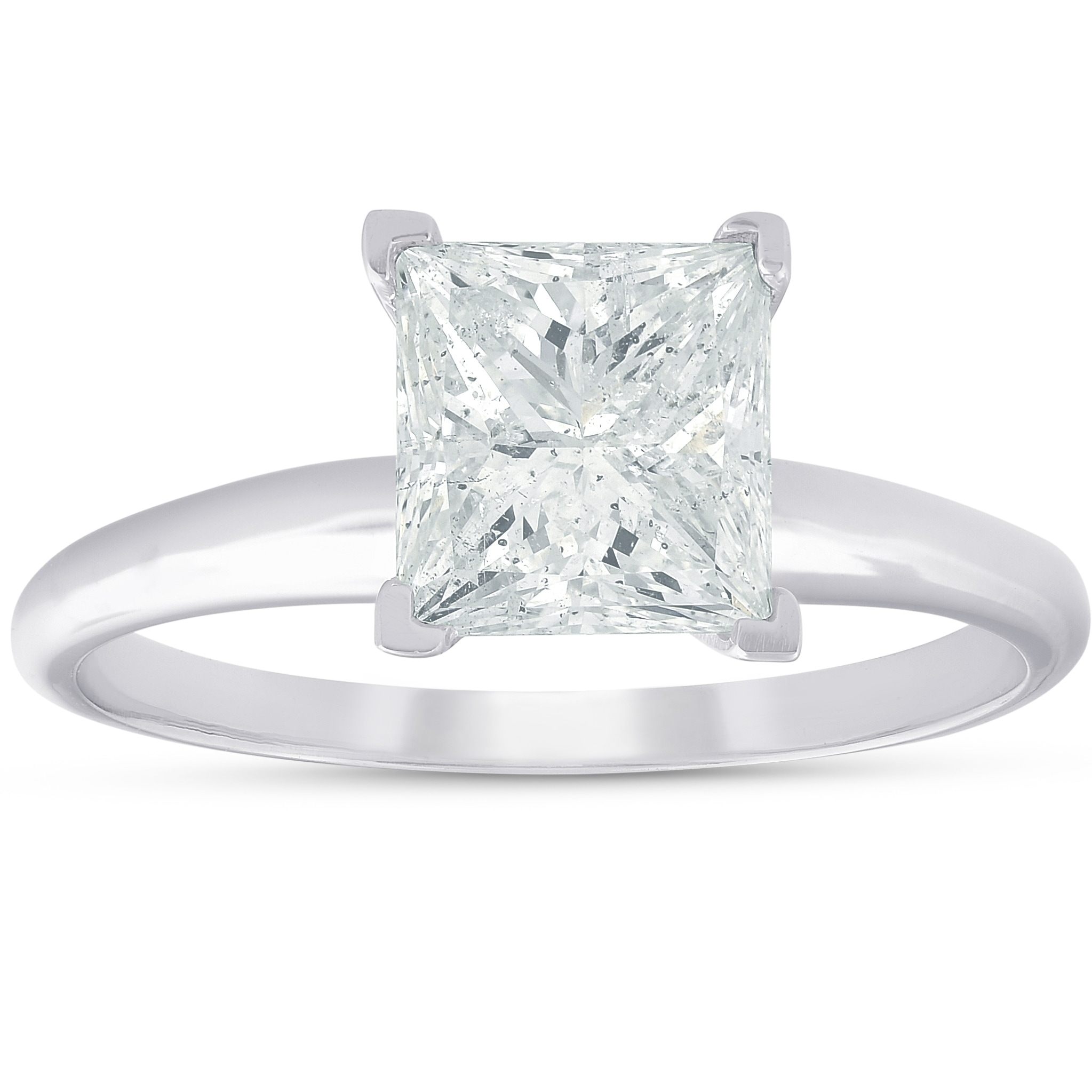 Shop Pompeii3 14k White Gold 2 03ct Princess Square Cut Diamond Solitaire Engagement Ring Clarity Enhanced On Sale Overstock 23586024