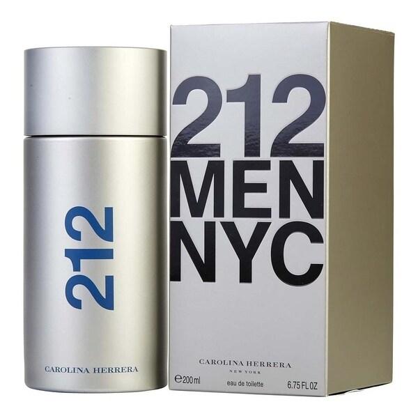 0ad4abe46e Shop Carolina Herrera 212 Men NYC Men s 6.75-ounce Eau De Toilette Spray -  Free Shipping Today - Overstock - 23586144