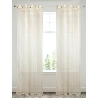 Plain Voile Beige Window Panel
