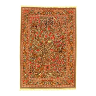 Pasargad DC Qum Hand Knotted Area Rug - 2′5″ × 3′7″