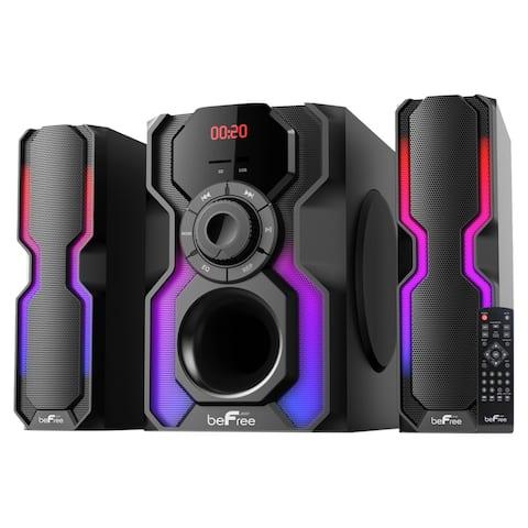 beFree Sound 2.1 Channel Bluetooth Multimedia Wired Speaker Shelf Stereo System
