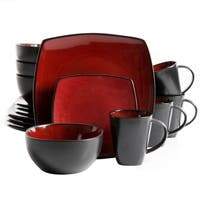 Gibson Essential Home Monaco 16 Piece Dinnerware Set in Red